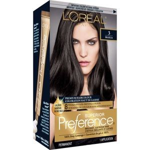 💥2/$20 L'Oreal Preference Hair Colour 3 Drk Brown